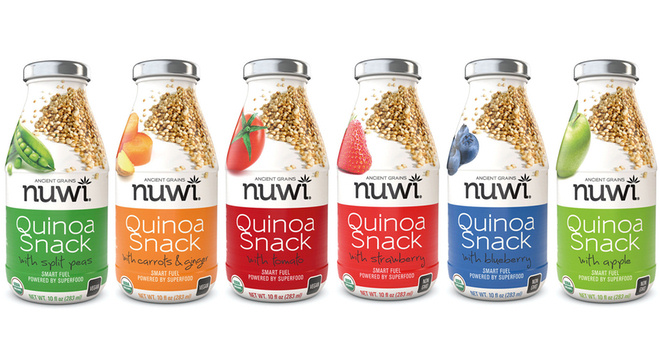 Nuwi drinkable snakcs with quinoa