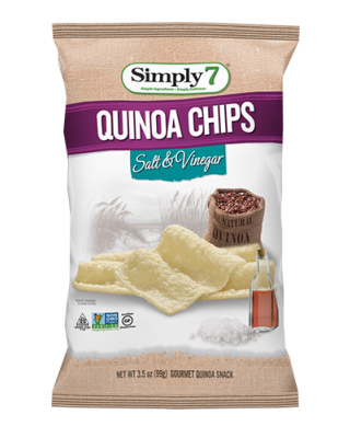Simply7 quinoa crisps/chips with salt and vinegar