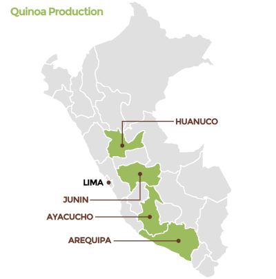 OrganicCrops quinoa production locations in Peru